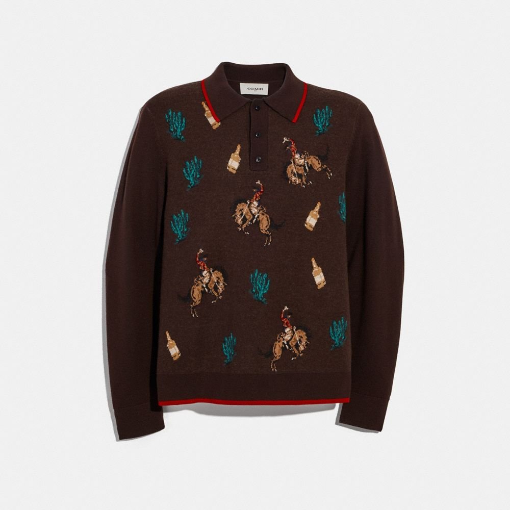 RODEO POLO SWEATER
