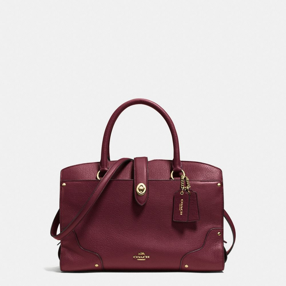 MERCER SATCHEL 30 IN GRAIN LEATHER