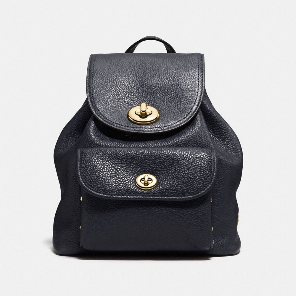 MINI TURNLOCK RUCKSACK IN POLISHED PEBBLE LEATHER