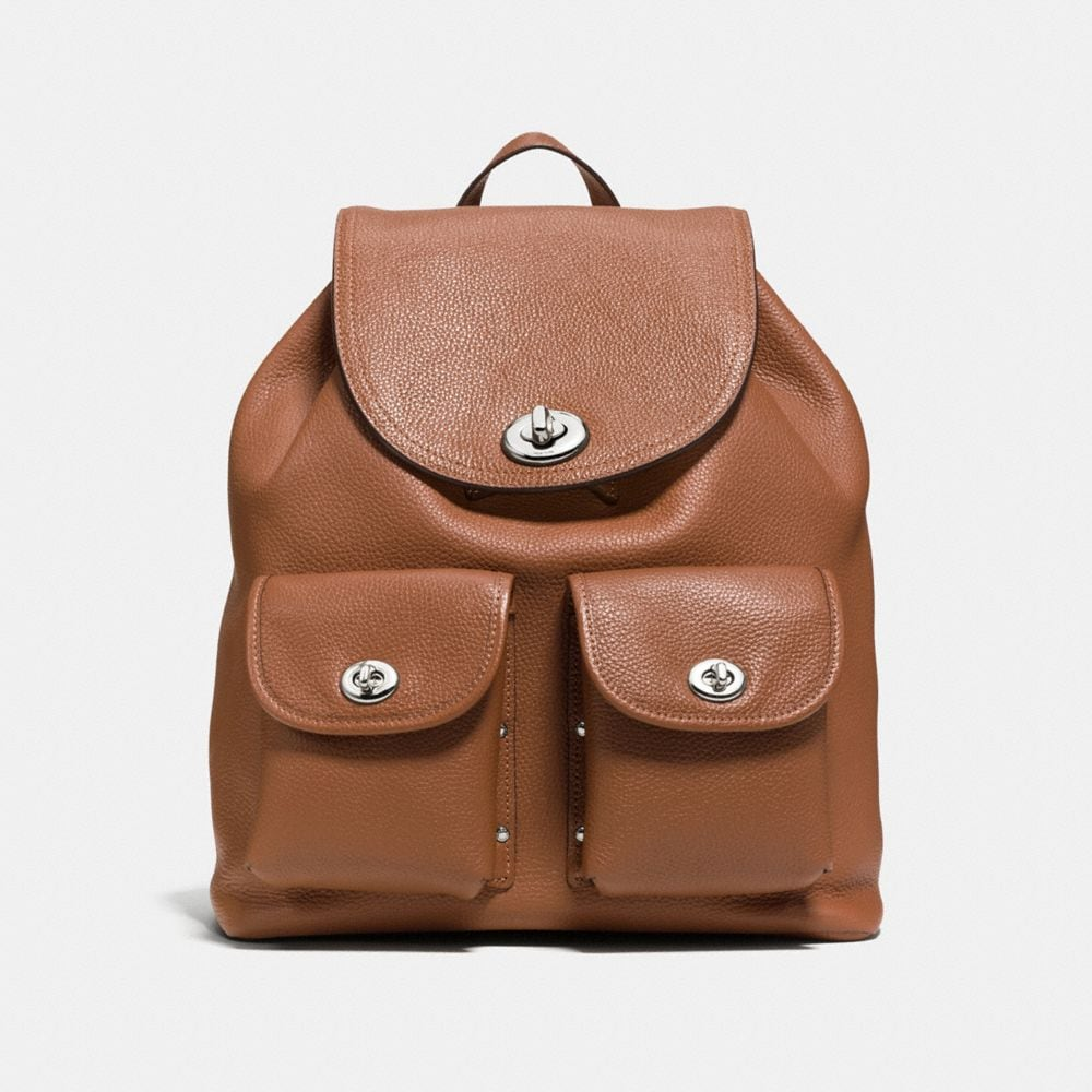 TURNLOCK RUCKSACK IN POLISHED PEBBLE LEATHER
