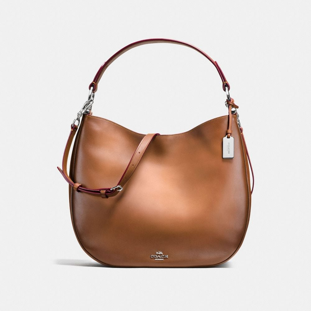 COACH NOMAD HOBO IN BURNISHED GLOVETANNED LEATHER