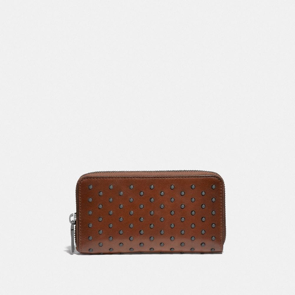 ZIP AROUND PHONE WALLET WITH RIVETS
