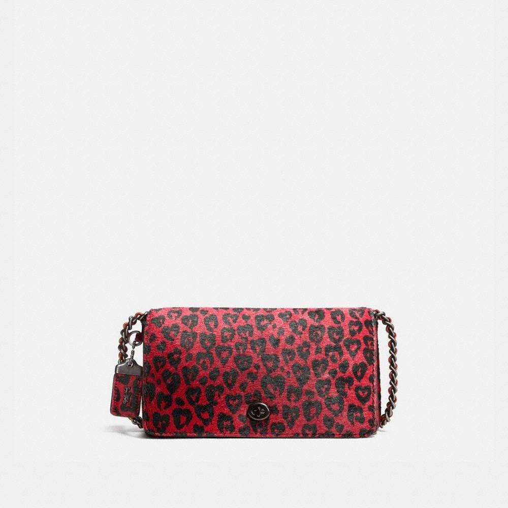 DINKY CROSSBODY IN PRINTED HAIRCALF