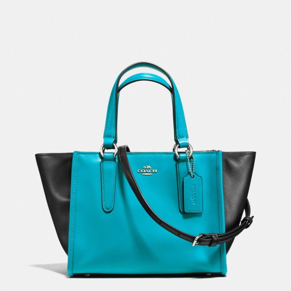 MINI CROSBY CARRYALL IN COLORBLOCK LEATHER