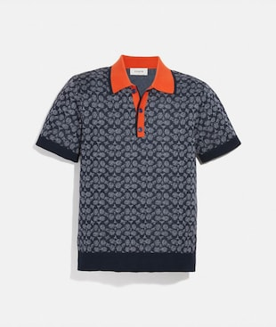 SIGNATURE STRICKPOLOHEMD
