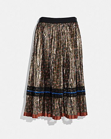 DAISY PRINT PLEATED SKIRT