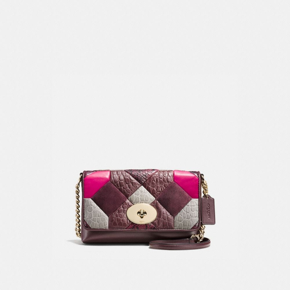 CANYON QUILT CROSSTOWN CROSSBODY IN EXOTIC EMBOSSED LEATHER