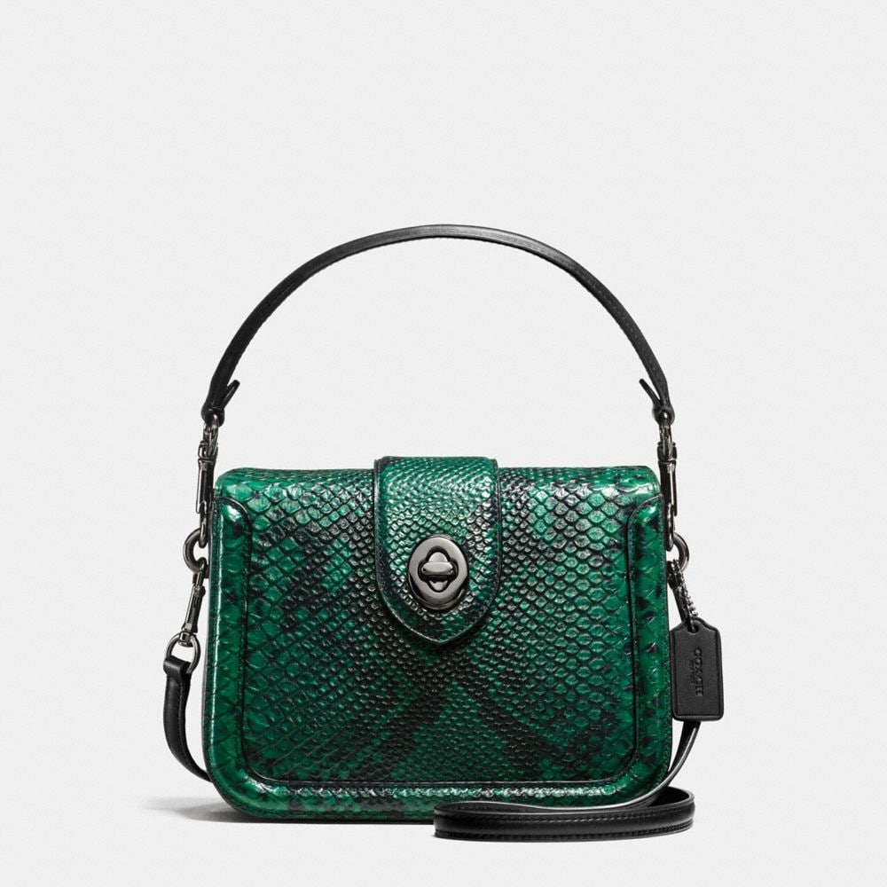 PAGE CROSSBODY IN SNAKE-EMBOSSED LEATHER