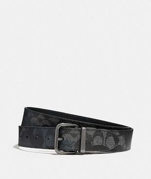 JEANS BUCKLE CUT-TO-SIZE REVERSIBLE SIGNATURE WILD BEAST PRINT BELT