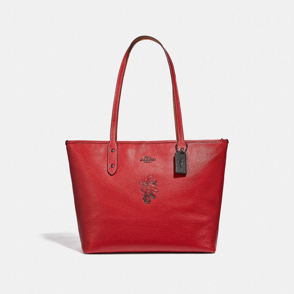 MINNIE MOUSE CITY ZIP TOTE WITH MOTIF
