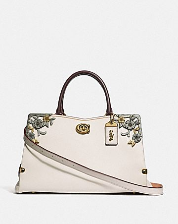 MASON CARRYALL WITH METAL TEA ROSE