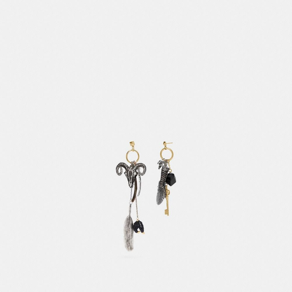 FOUND OBJECTS WESTERN CHARM EARRINGS