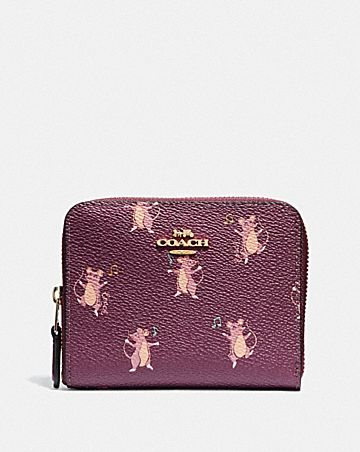 SMALL ZIP AROUND WALLET WITH PARTY MOUSE PRINT