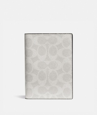PASSPORT CASE IN BLOCKED SIGNATURE CANVAS