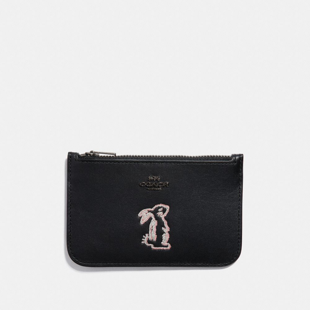 SELENA ZIP CARD CASE WITH BUNNY