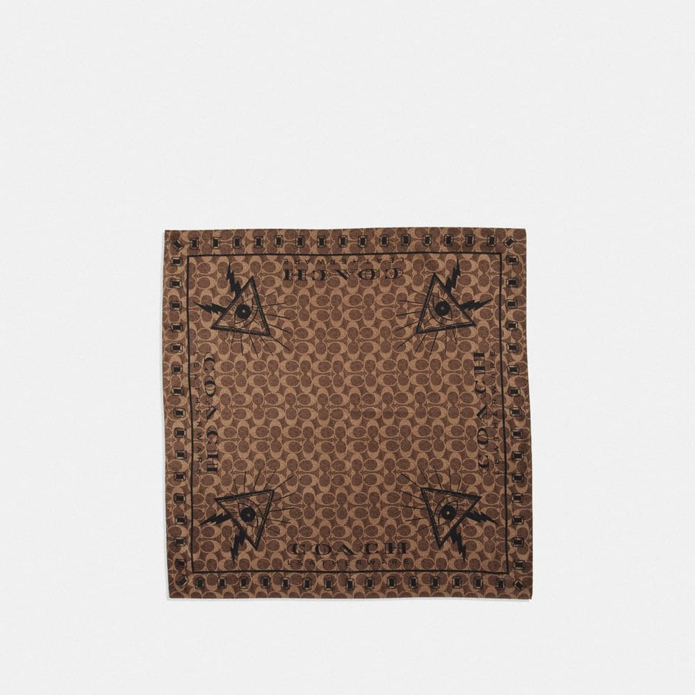 SIGNATURE PYRAMID EYE SILK BANDANA