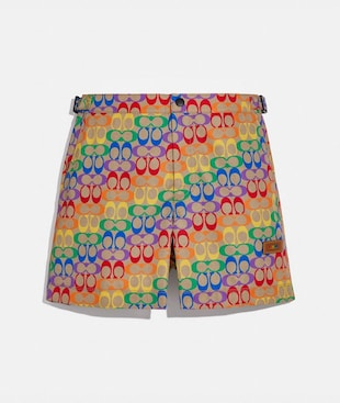 RAINBOW SIGNATURE SWIM TRUNKS