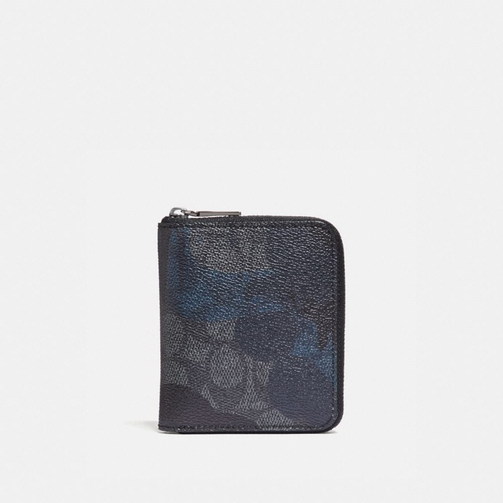 SMALL ZIP AROUND WALLET IN SIGNATURE WILD BEAST PRINT