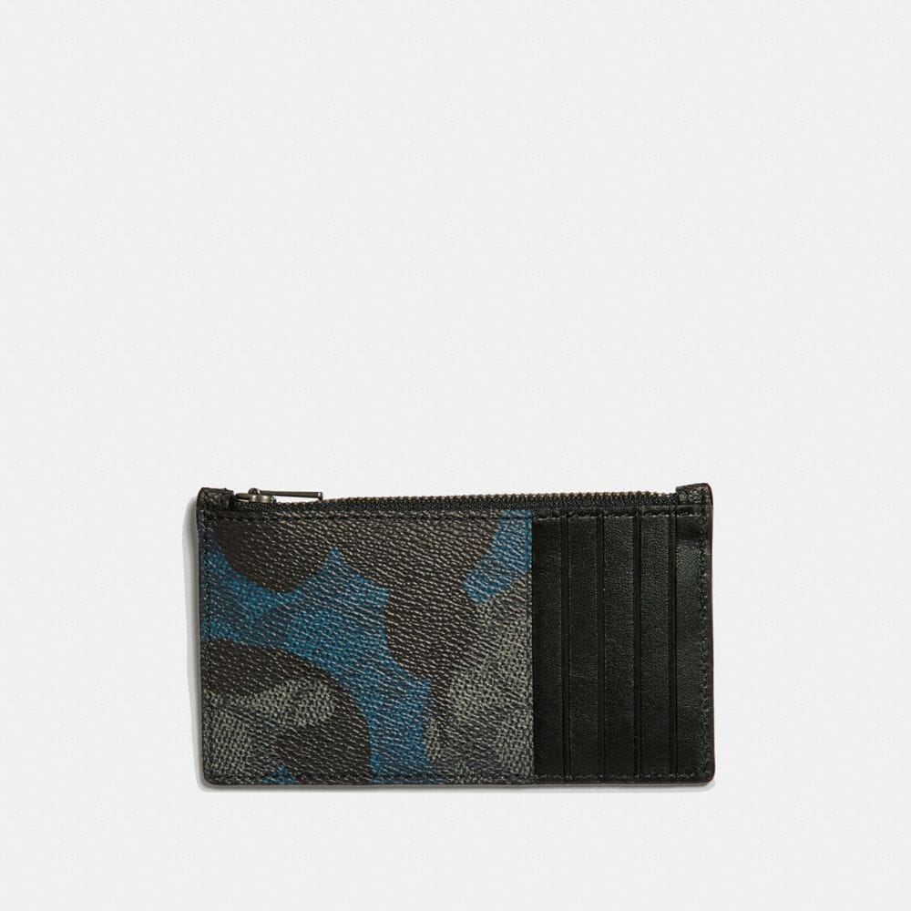 ZIP CARD CASE IN SIGNATURE WILD BEAST PRINT