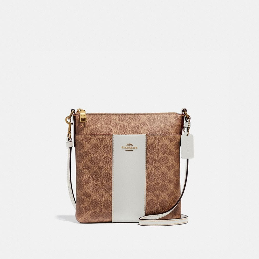 KITT MESSENGER CROSSBODY IN COLORBLOCK SIGNATURE CANVAS