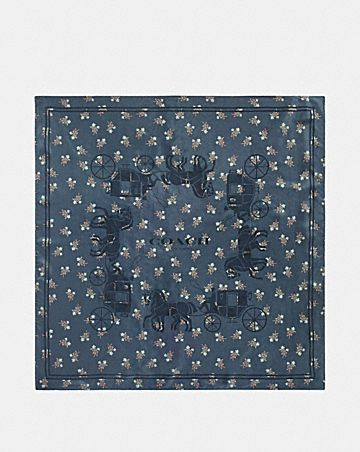 HORSE AND CARRIAGE SILK SQUARE SCARF