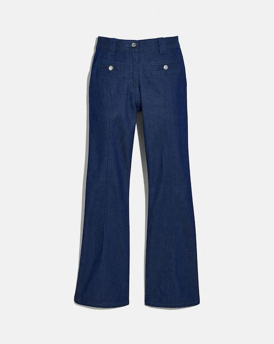 RETRO-JEANS MIT HOHER TAILLE