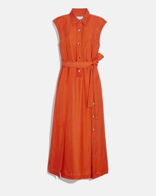 LONG SHIRT DRESS WITH SIDE SLIT