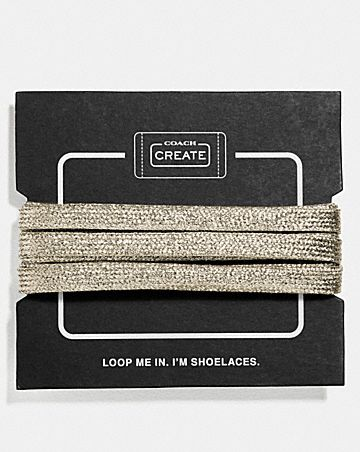 METALLIC SHOE LACES