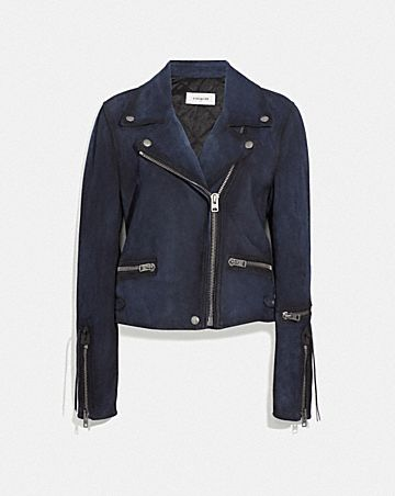 BURNISHED SUEDE MOTO JACKET