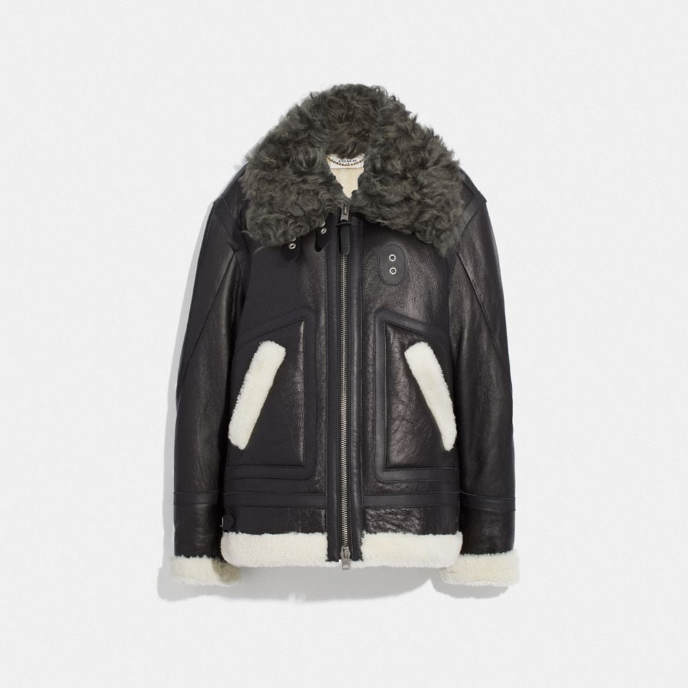 OVERSIZED SHEARLING AVIATOR