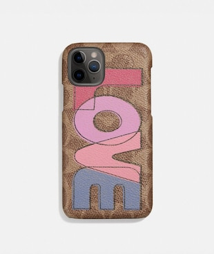 IPHONE 11 PRO CASE IN SIGNATURE CANVAS WITH LOVE PRINT