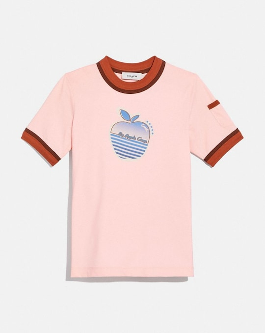 APPLE GRAPHIC DOUBLE BINDING T-SHIRT
