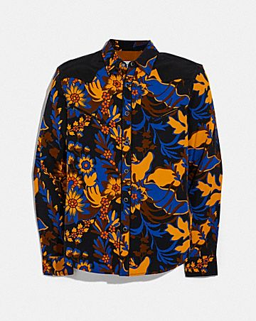 FOREST FLORAL PRINT SHIRT