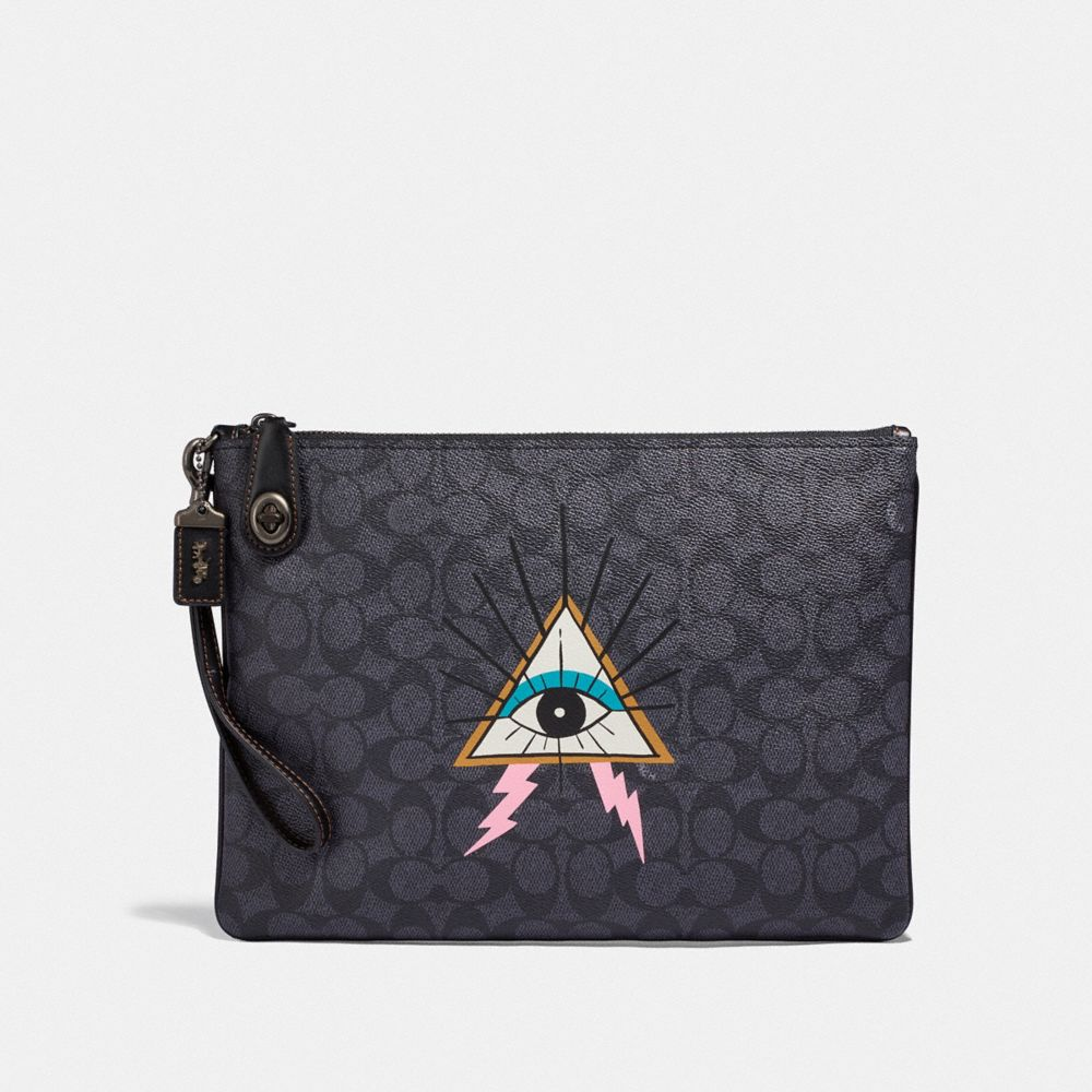 VIPER ROOM TURNLOCK POUCH IN SIGNATURE CANVAS