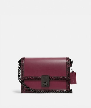 HUTTON SHOULDER BAG WITH SNAKESKIN DETAIL