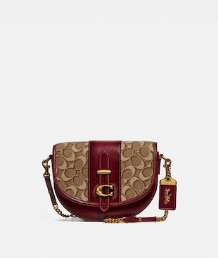 SADDLE 20 IN SIGNATURE JACQUARD