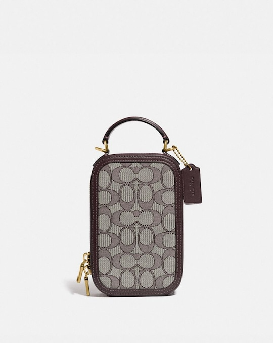 ALIE CAMERA BAG IN SIGNATURE JACQUARD