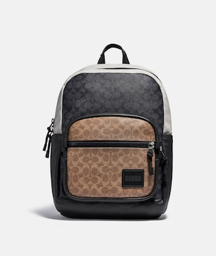 PACER TALL BACKPACK 29 IN COLORBLOCK SIGNATURE CANVAS