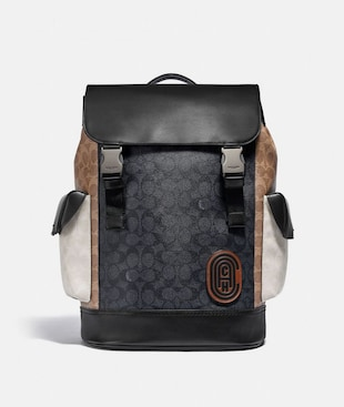 RIVINGTON BACKPACK IN COLORBLOCK SIGNATURE CANVAS
