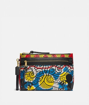 DISNEY MICKEY MOUSE X KEITH HARING ACADEMY POUCH