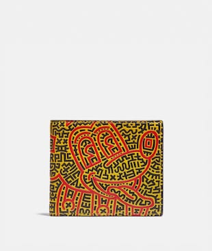 DISNEY MICKEY MOUSE X KEITH HARING DOUBLE BILLFOLD WALLET
