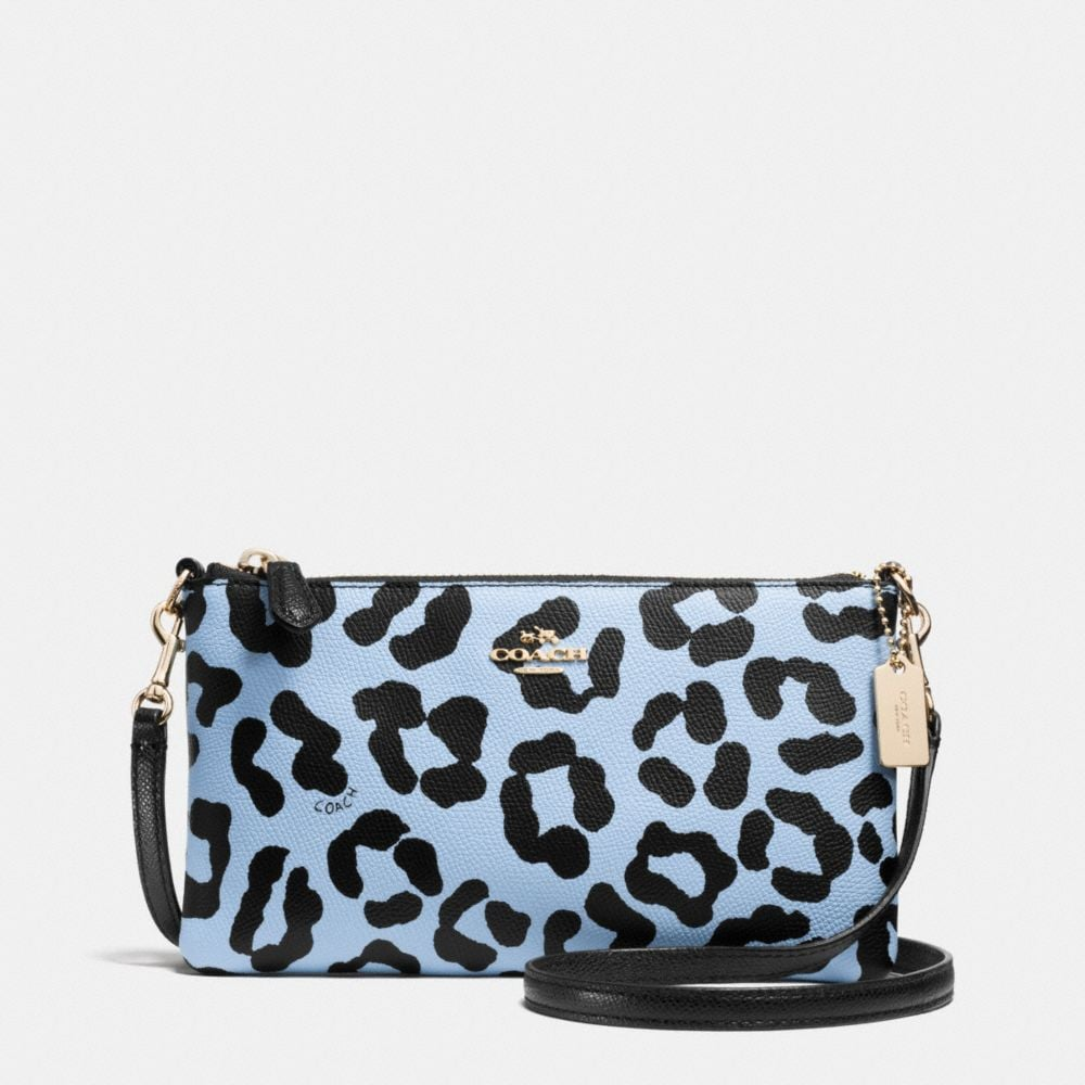 HERALD CROSSBODY IN OCELOT PRINT CROSSGRAIN LEATHER