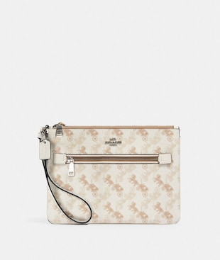 GALLERY POUCH WITH HORSE AND CARRIAGE PRINT
