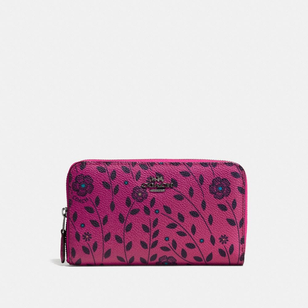 MEDIUM ZIP AROUND WALLET WITH WILLOW FLORAL PRINT