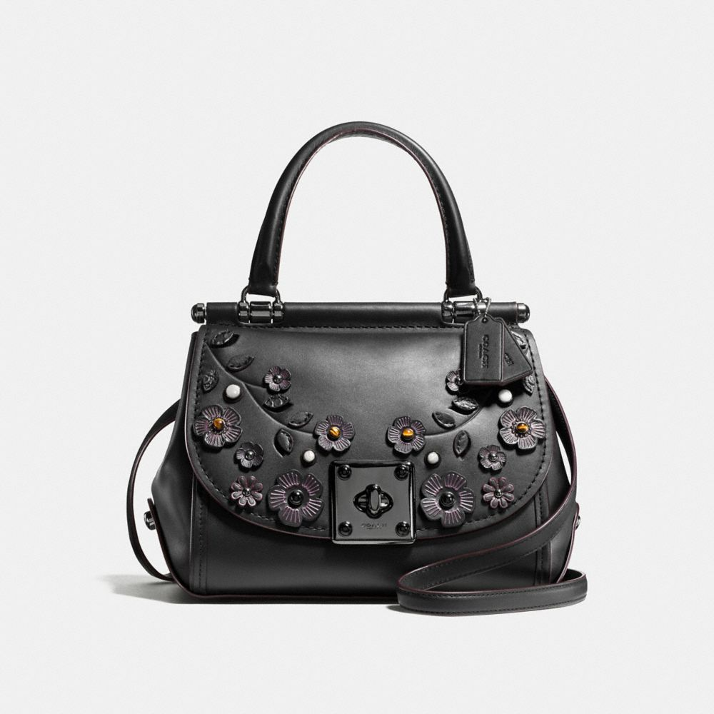 DRIFTER TOP HANDLE SATCHEL WITH WILLOW FLORAL APPLIQUE