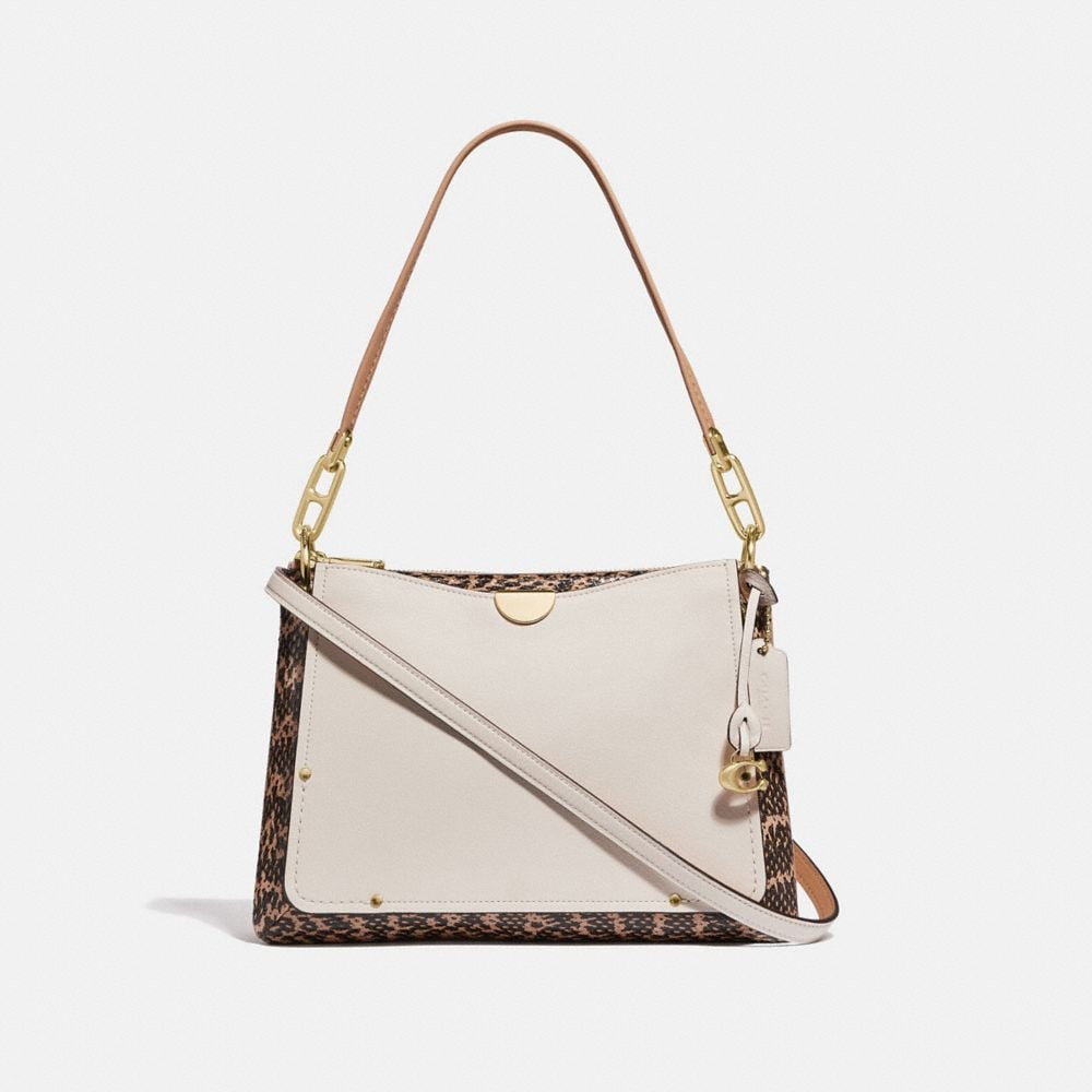 DREAMER SHOULDER BAG WITH SNAKESKIN DETAIL