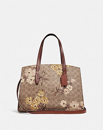 CHARLIE CARRYALL IN SIGNATURE CANVAS WITH PRAIRIE  FLORAL PRINT