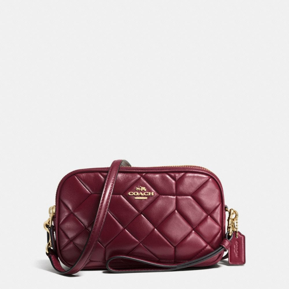 CANYON QUILT CROSSBODY CLUTCH IN CALF LEATHER