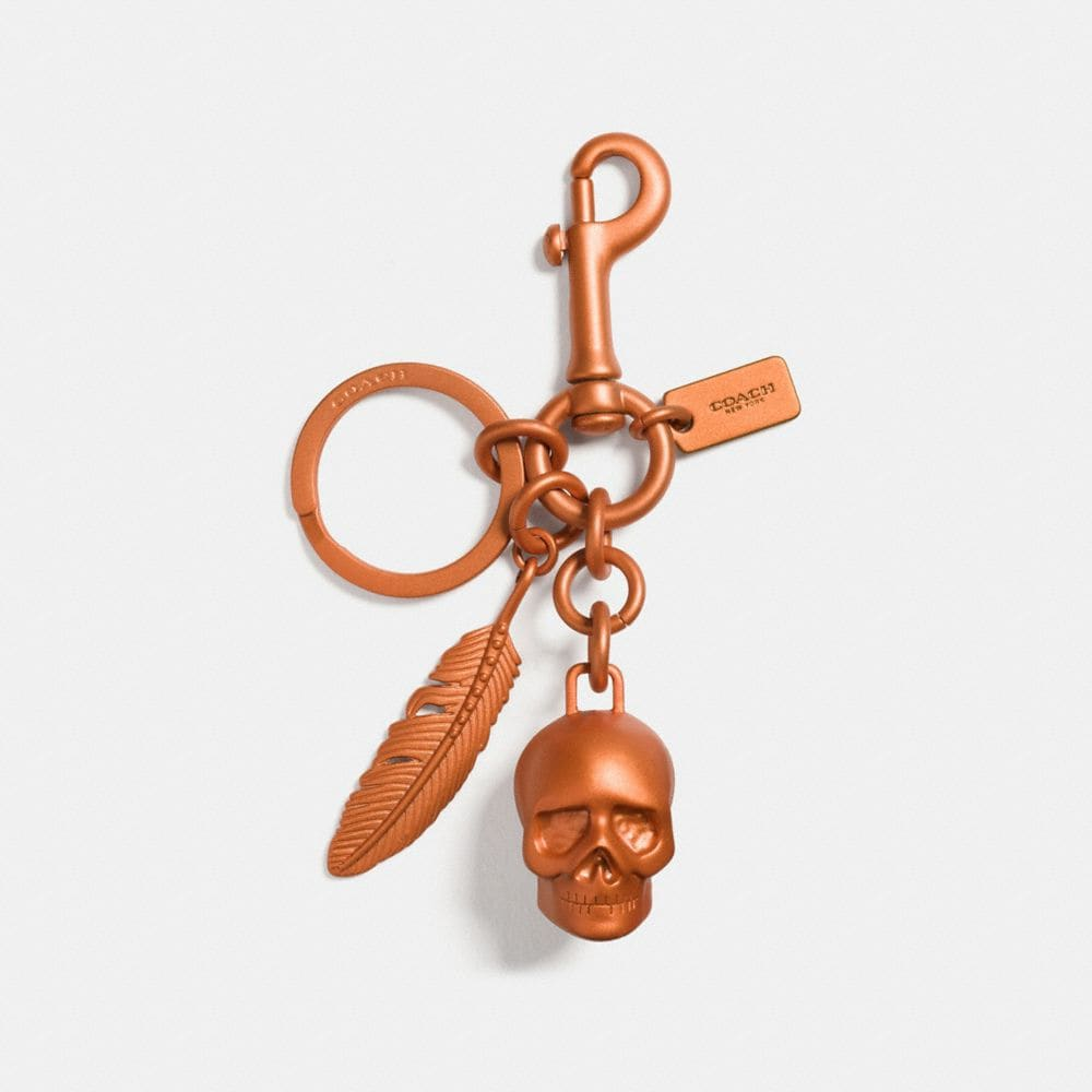 ANODIZED SKULL MIX BAG CHARM