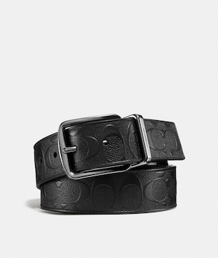 CINTURA DOUBLE FACE SARTORIALE HARNESS LARGA IN PELLE SIGNATURE